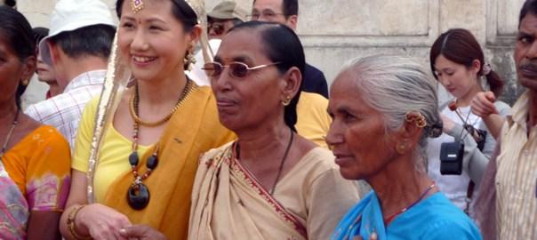 Visitantes do Red Fort, Delhi