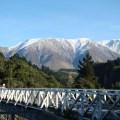 Vista da ferrovia Transalpine, Nova Zelândia