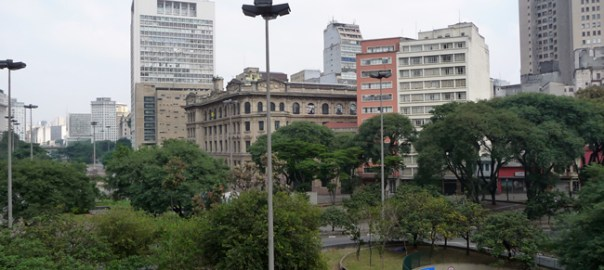 Vale do Anhangabaú, no centro de São Paulo