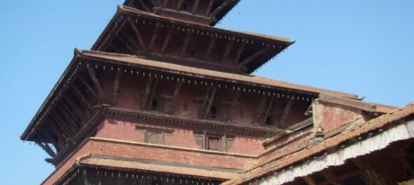 Telhados do Palácio Real, Patan, Nepal