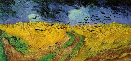 Van Gogh - Gogh, Vincent van - Wheat Field Under Threatening Skies [1890]