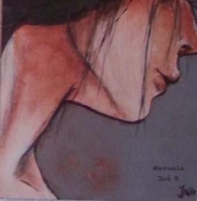 peinture visage profil