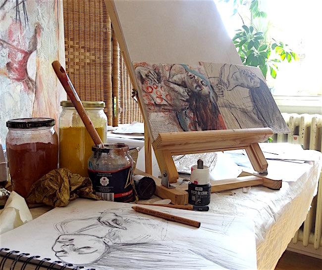 atelier- routine-de-peinture-dessin- manuelajoe