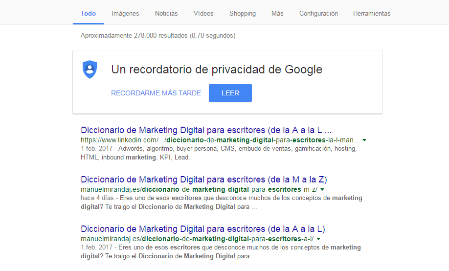 diccionario de marketing digital para escritores