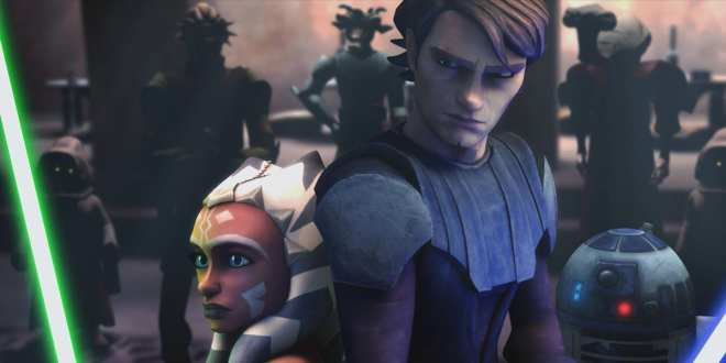 Ahsoka Tano and Anakin Skywalker Star Wars: The Clone Wars