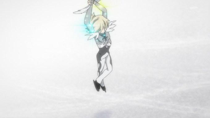 ユリオの両手上げジャンプ(第11話画像)
