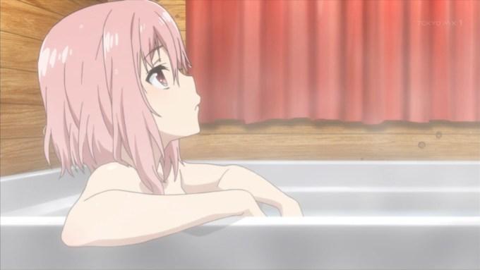 木春由乃の入浴(サクラクエスト2話画像)