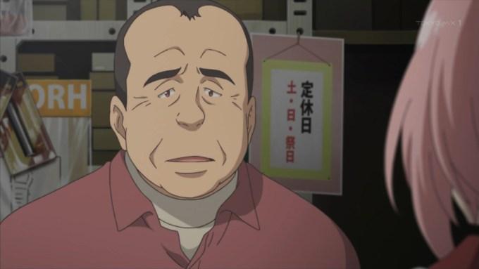 間野山の人(サクラクエスト3話画像)