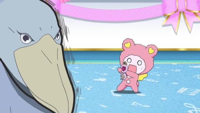 ハシビロコウ社長とクマ(アイドルタイムプリパラ5話画像)