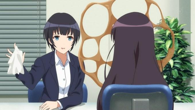 町田苑子と霞ヶ丘詩羽,冴えない彼女の育てかた2期10話より