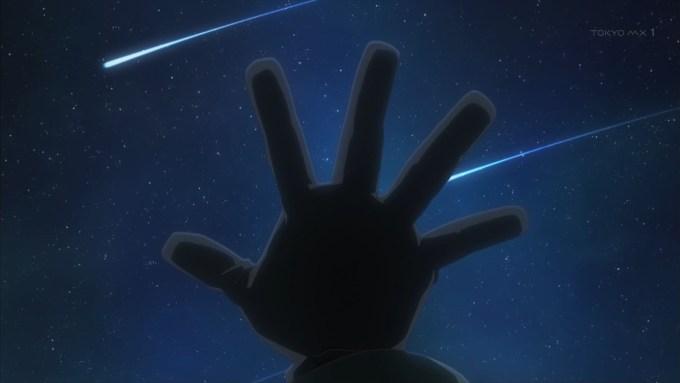 流れ星とチトの手