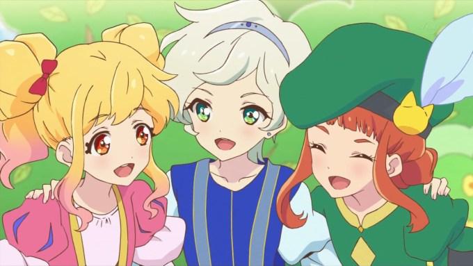 ロミオとジュリエット中の虹野ゆめと騎咲レイと早乙女あこ