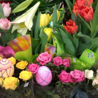 Fresh flowers for Easter!