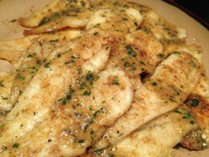 Pan Fried Sole w/ Sauce