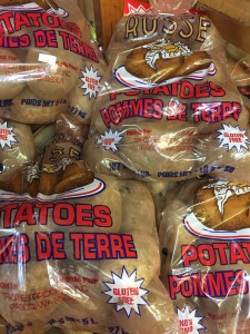 Potatoes $1.29 per 5 lb bag