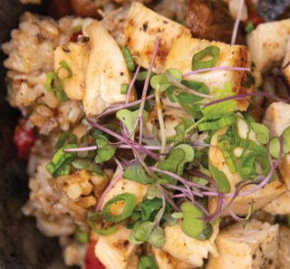 Chicken Fried Rice with Peppers and Mushrooms Recipe