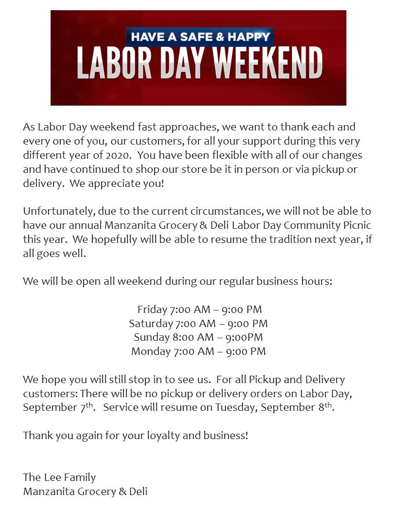 Labor Day 2020 Post
