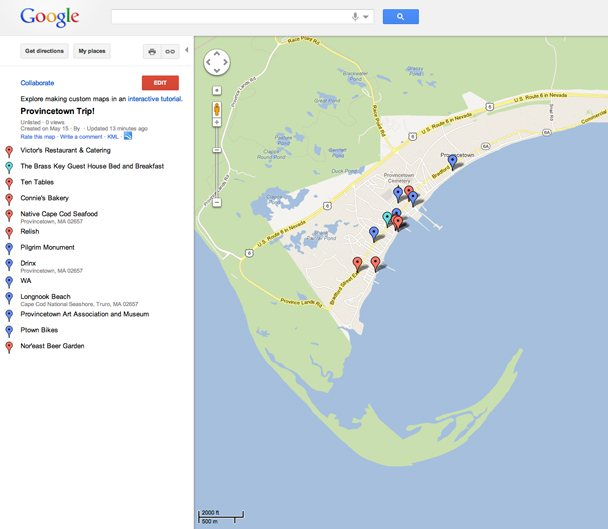 Provincetown Map