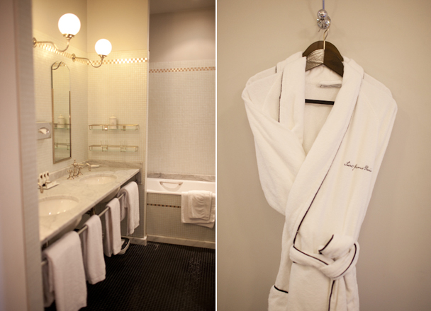 Bathroom at Saint James Paris