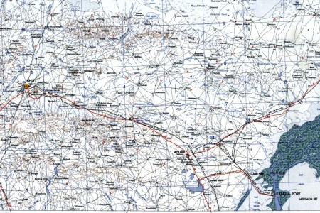 maps of bhuj and anjar area topographic map, gujarat 1959