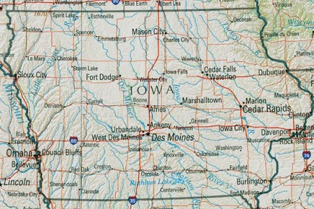 maps of iowa shaded relief map, united states mapa.owje.com