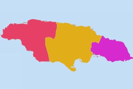 territories grid map of jamaica counties