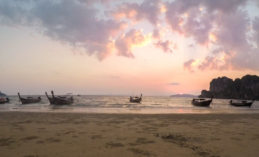 Sunset Railay Beach Thailand