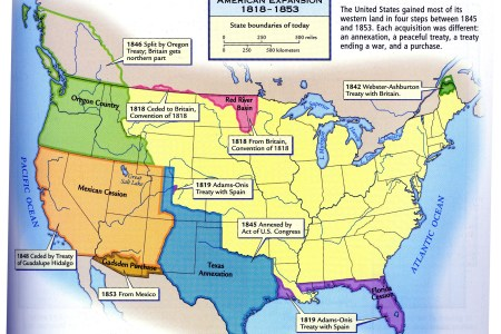 american expansion 1818 1853 map united states mappery