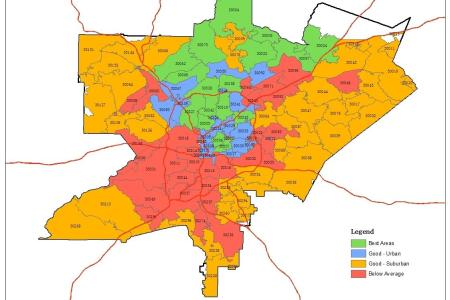 atlanta zip code map zip code map of atlanta (united