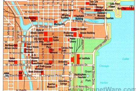 chicago attractions map map of chicago attractions