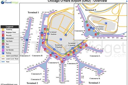 o hare airport map map of chicago o hare (united states