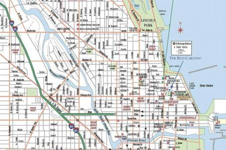 chicago street map street map of chicago (united states