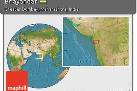 free satellite location map of bhayandar