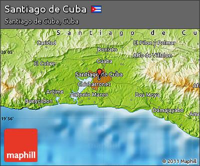 map santiago de cuba