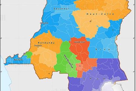 map democratic republic congo