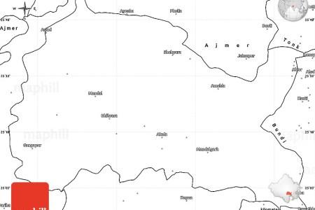 blank simple map of bhilwara