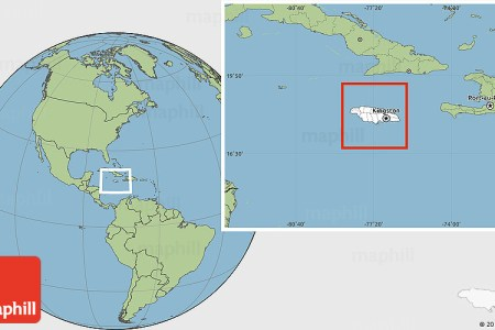 blank location map of jamaica savanna style outside