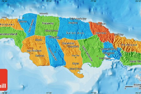 political map of jamaica
