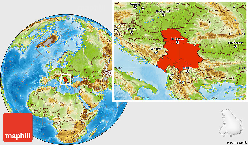 map serbia and montenegro