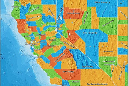 free political map of california