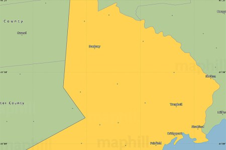 savanna style simple map of fairfield county