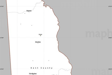 gray simple map of delaware, cropped outside