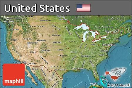 free satellite map of united states