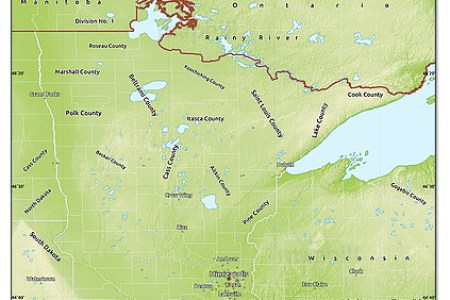 free physical map of minnesota