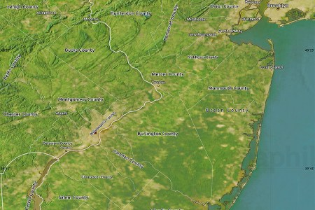 satellite map of new jersey