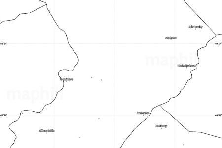 blank simple map of warren county