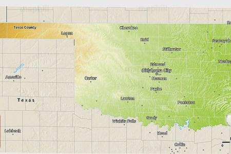 Map Of Western Oklahoma - Map of oklahoma