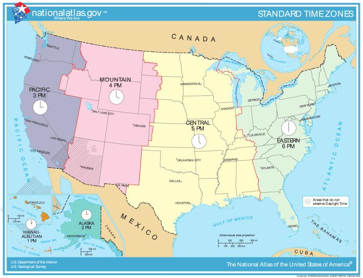 ... Of The World Contributor United States .Time Zone Map Of United States