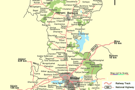 map of bhopal mapsof.net