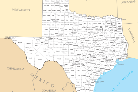 Map Of Texas With Cities - Map of texas cities and towns